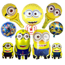 baby balloon minions party supplies inflatable toys birthday decorations kids despicable me minion foil