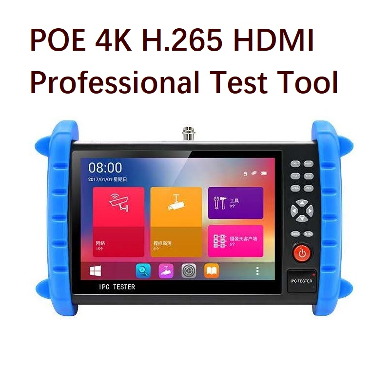 Android System HD 1920*1200 IPS Screen Security Test Tool H.265 4K HDMI ONVIF POE WIFI IP/Analog/AHD/TVI/CVI 8MP Camera Tester