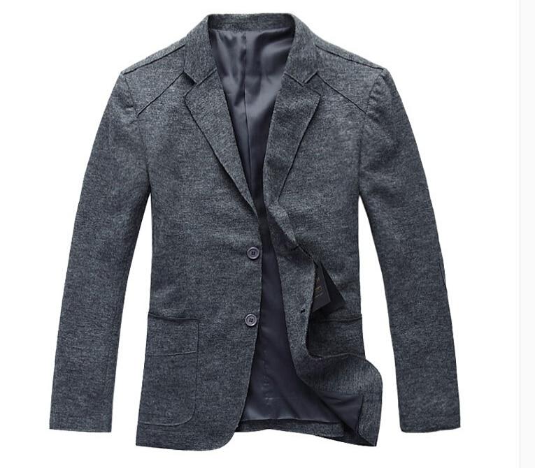 Mens Grey Wool Pea Coat