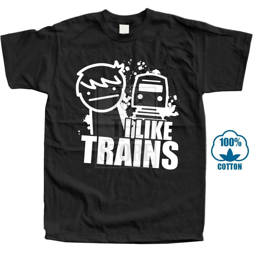 New Men'S T Shirt Fashion Unique T Shirts T Shirt I Like Trains Memes Funny Asdf Inspired Parody Asdf Movie Comic Tee Shirts