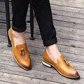 La tendencia de cuero ocasional de los hombres con flecos Bullock puso pie en estilista zapatos de cuero retro de la personalidad