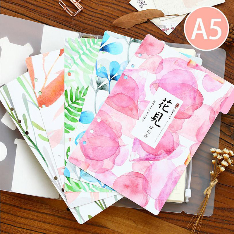 Notebook Accessories Fresh Style Category Page Day Planner Divider Index page 5 sheets/Set for Filofax School Stationery пюре bebivita пюре индейка с 6 мес 100 г
