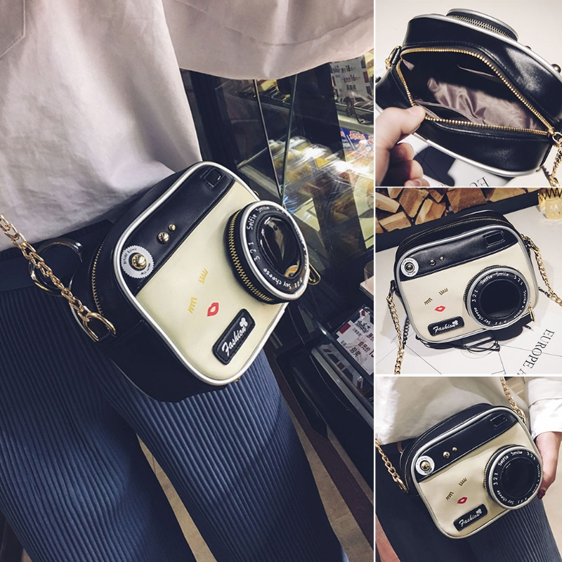 Newest Women Fashion Camera Shape Small Lady Girls Shoulder Bag Crossbody Handbag Messenger Purse High Quality