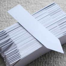 100pcs!10*2cm Plant markers plastic garden stake tags nursery labels plant supplies,Free shipping.
