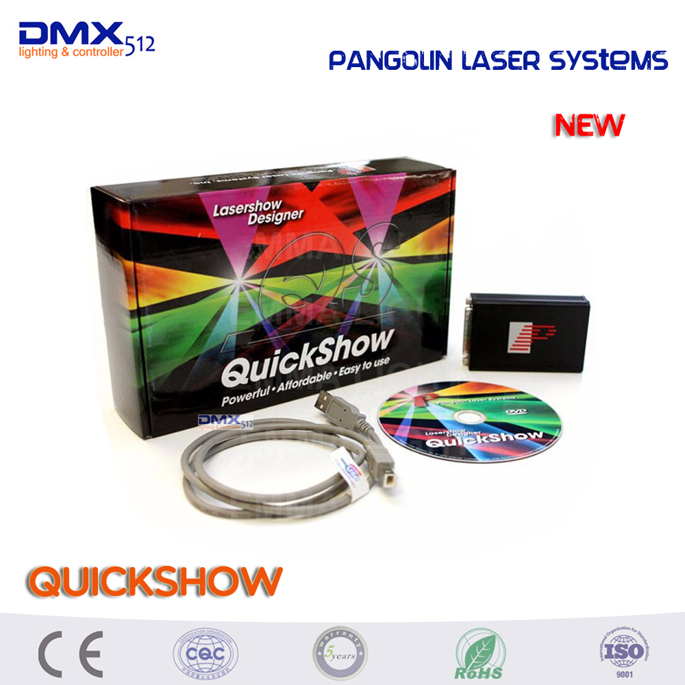 Free shipping Original product more powerful Pangolin laser systems quickshow usb software for laser show designer струнная система paulmann light easy 94003