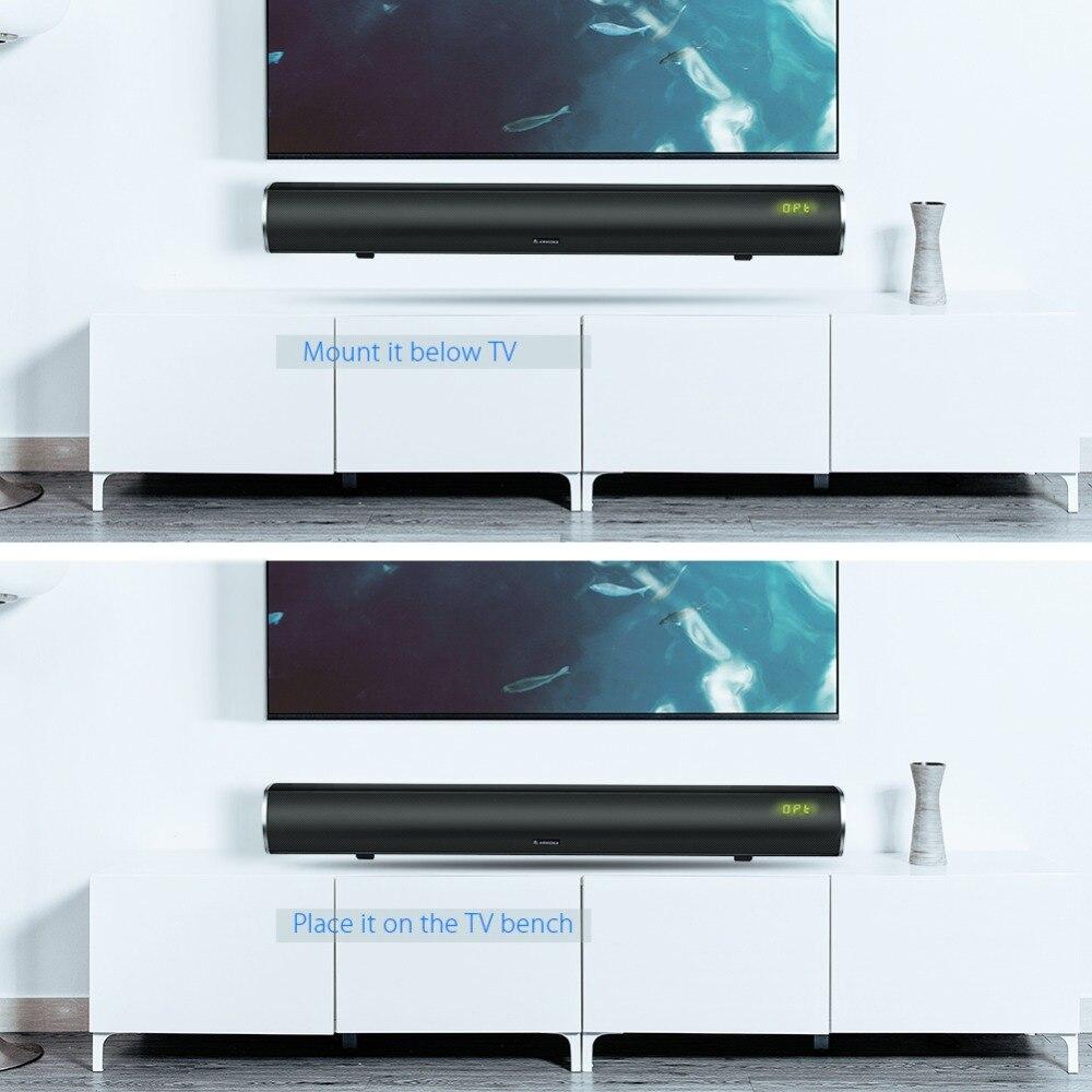 Arvicka Heimkino Soundbar 60 Watt Wireless Sound bar 2,1 Channel ...
