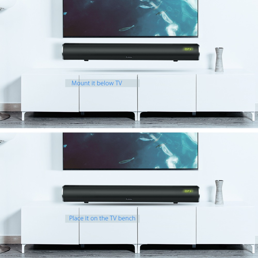 Arvicka Home Theater Soundbar 60W Wireless Sound bar 2.1 Channel ...