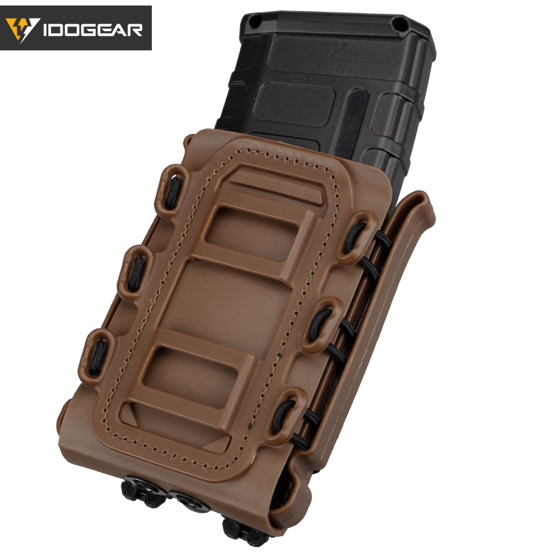 IDOGEAR Soft Shell Rifle Mag Carrier Tactical 5.56mm 7.62mm Magazine Pouches G Code Military Airsoft Holster Fastmag