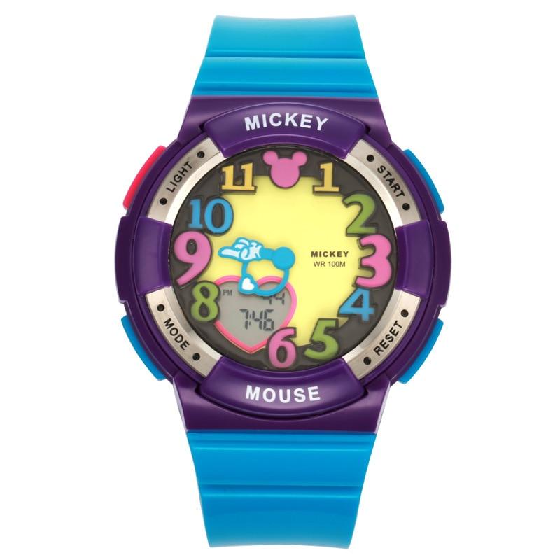 Disney enfants montre garçons lumineux arc-en-ciel Sport montres étanche multi-fonction enfants montres numériques pour filles Hodinky