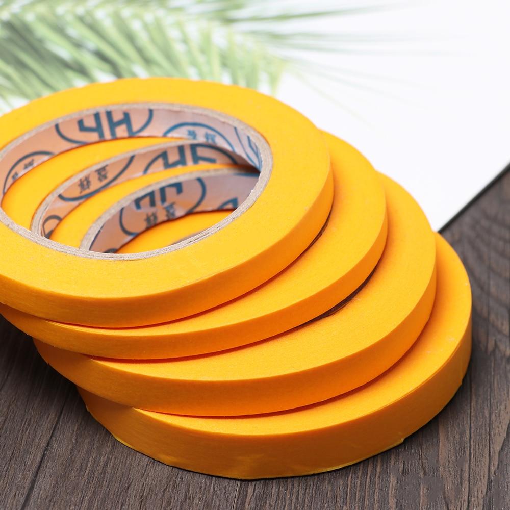 50M Yellow Car Sticker Self-Adhesive DIY Painting Paper Painter Decor Masking Tape General Purpose Crafts Office Supplies