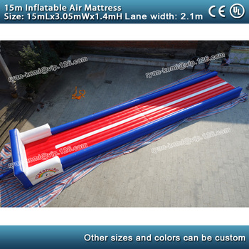 15m long inflatable air mattress Inflatable exercise mat 50ft inflatable air track gymnastics trampoline mat with blower