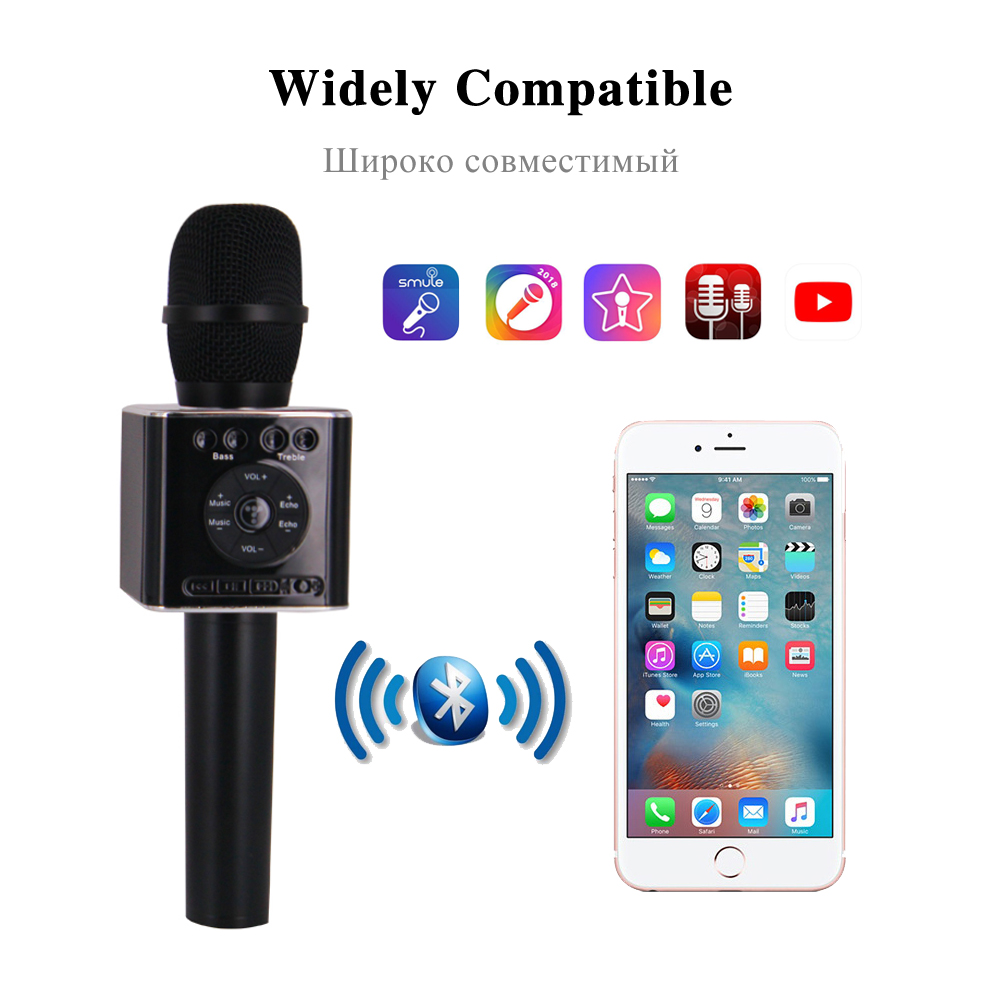 Image 2 - TOSING 04 Handheld Bluetooth Wireless Karaoke Microphone Phone Player MIC Speaker Record Music KTV Microphone-in Microphones from Consumer Electronics