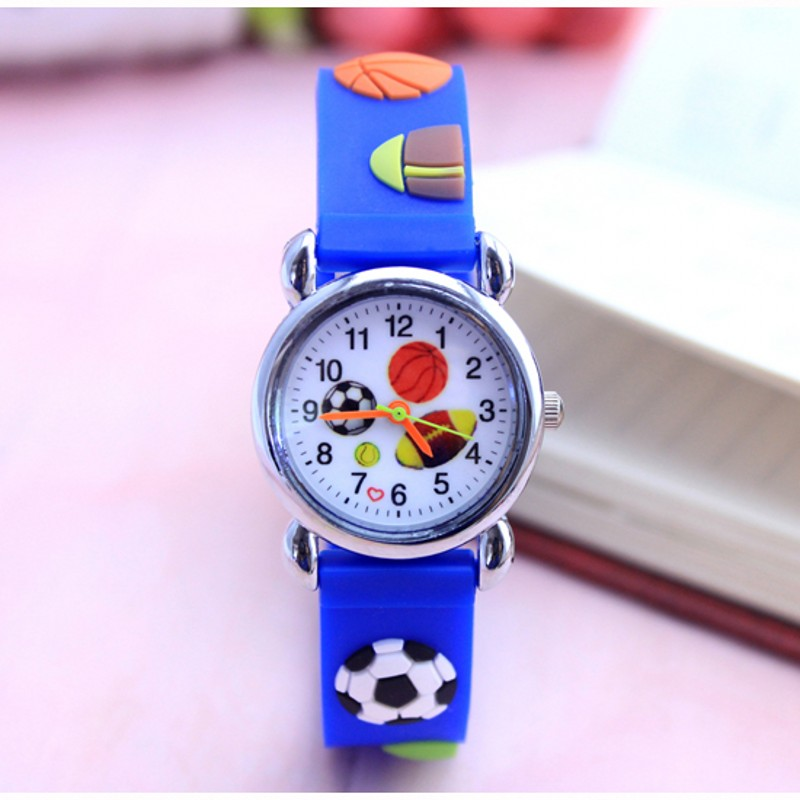 2018 New Silicone 3D Children Kids Wrist Watches For Boys Girls Football Hand Watch Sports Quartz Wristwatches Relojes