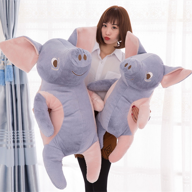 Fancytrader Lovely 100cm Big Cartoon Pig Plush Pillow 39'' Giant Soft Animal Pigs Stuffed Toy Doll Baby Present fancytrader 39 100cm giant plush soft lovely stuffed cartoon monkey toy cute birthday gift free shipping ft50006