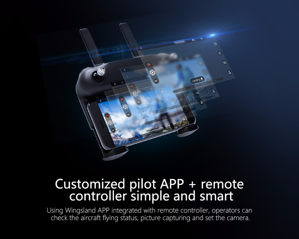 M5 Smart Portable Drone FPV Racer Drone 4-axis Airplane with APP Control + R6 Remote Controller High Speed Remote Control Toy