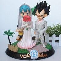 Anime Dragon Ball Z Trunks GK Figurine Vegeta & Bulma Wedding Day Ver. PVC Action Figure Toys