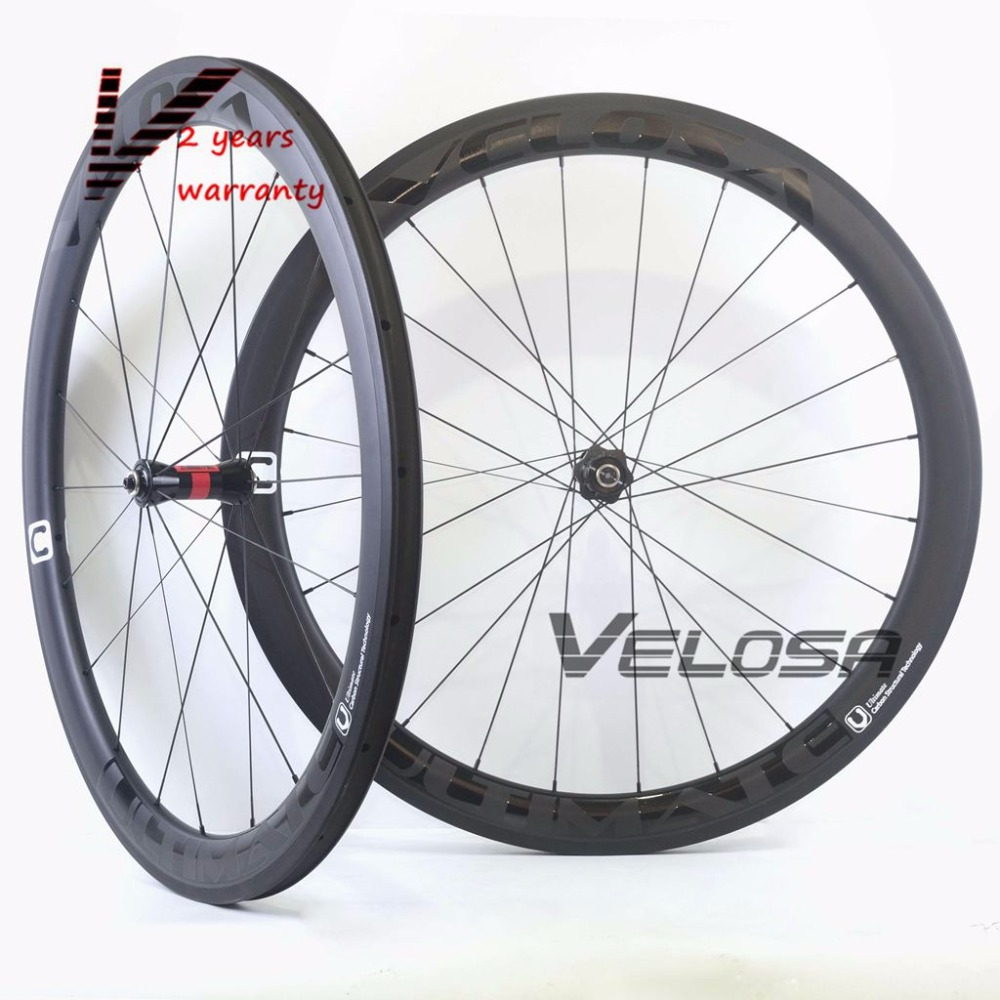 Velosa Ultimate 50 Asymmetrical 50mm full carbon bike wheelset,700C road bike wheel,rear asym rim with DT240/DT350 hubs