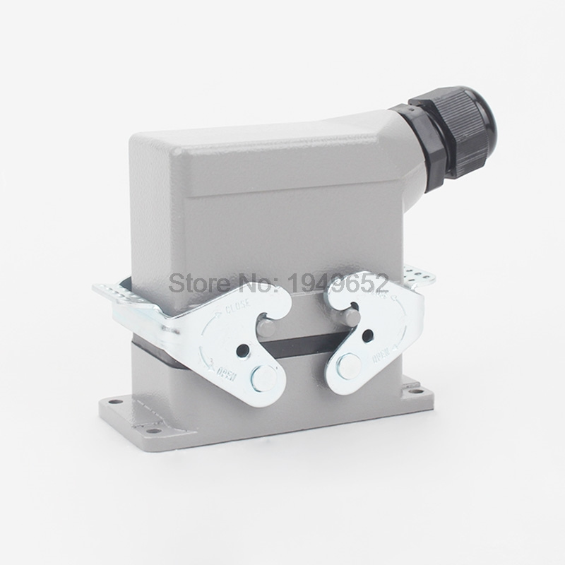 Heavy Duty Connectors HDC-HE-010-1 F/M 10pin 16A Industrial rectangular Aviation connector plug heavy duty connectors hdc he 024 1 f m 24pin industrial rectangular aviation connector plug 16a 500v