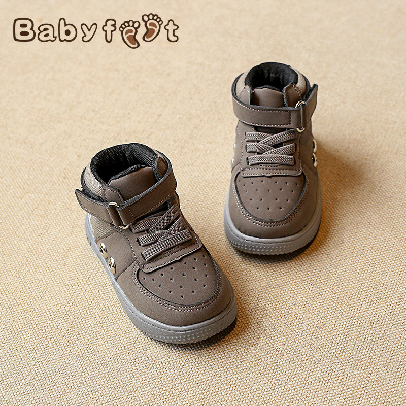 babyfeet Brand New Little Baby boys and girls high top toddle tenis sneaker children ankle boots kids shoes sneakers size 16-19