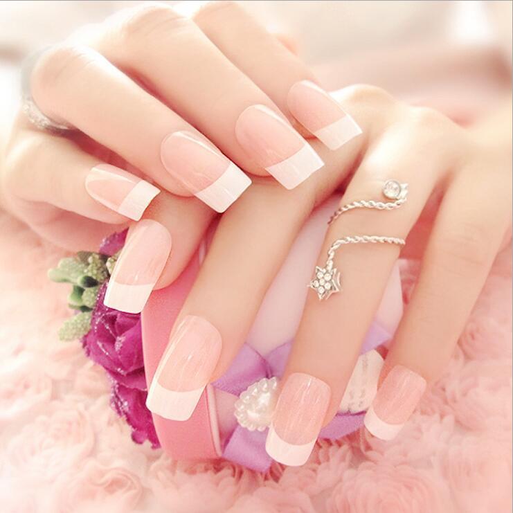 Women 100pcs Natural Color French False Nail Tips Artificial Fake Nails Art Acrylic Manicure Tools bioaqua exfoliante para pies