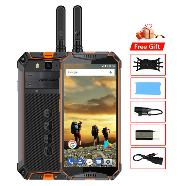 Ulefone Armor 3T IP68 Waterproof Mobile Phone Android 8.1 5.7 21MP MT6763T Octa Core NFC 10300mAh Walkie Talkie 4G SmartphoneUlefone Armor 3T IP68 Waterproof Mobile Phone Android 8.1 5.7 21MP MT6763T Octa Core NFC 10300mAh Walkie Talkie 4G Smartphone