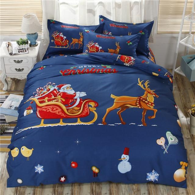 Christmas Bedding Sets For Children Cartoon Set Bed Linens With Bedsheet Kids Gift