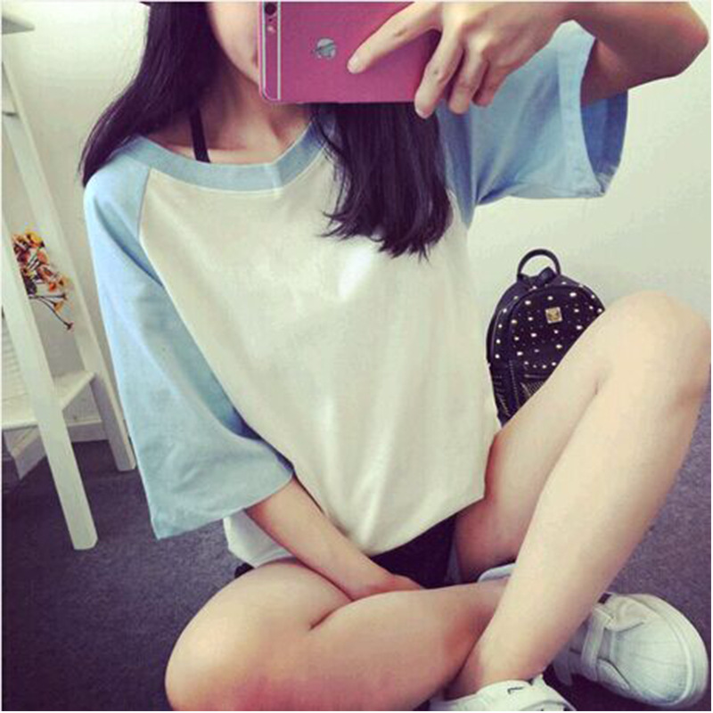 2018 summer new short-sleeved female T-shirt loose student bottoming shirt clothes women T27