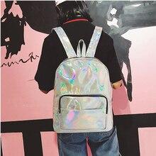 Женский рюкзак голографическая Рюкзак Mochila holografica Kawaii рюкзаки для девочек-подростков Mochila ноутбук Mochilas Mujer