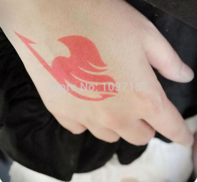 New Free Shipping Anime Temporary Tattoos Fairy Tail Cosplay Guild