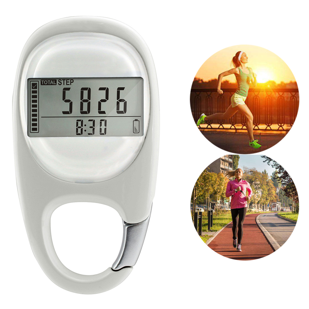 Pedometer Calorie Step-Counting Walking-Distance Fitness Exercise Digital Portable 3D