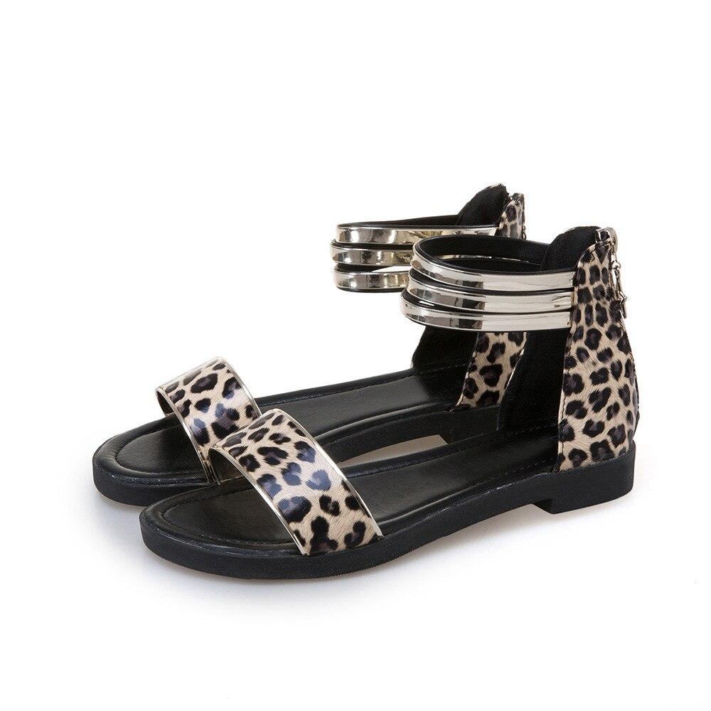 Aliexpress.com : Buy 2018 Women's Summer Leopard Sandals Shoes Peep toe Low Shoes Roman Sandals