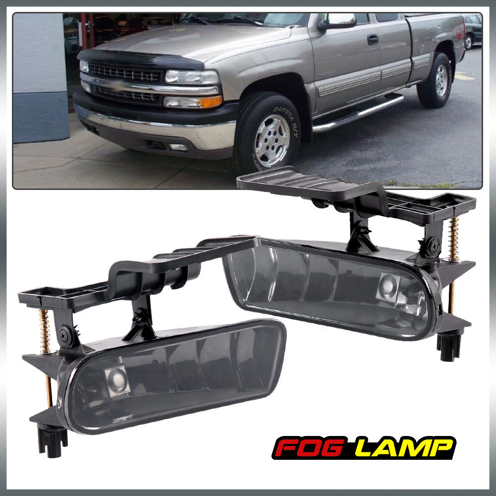 Fog light for Chevrolet CHEVY 99-02 Silverado/ 00-06 Suburban/Tahoe Clear Lens Bumper Fog Lights Driving Lamps suburban 94 99 blazer 94 tahoe 95 99 signal marker reflector light upper pair