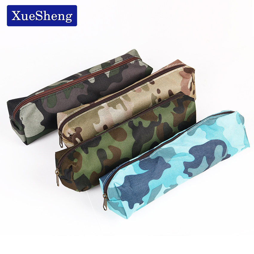 Camouflage Pencil Case for Boys and Girls School Supplies Zipper Pouch 4 Colors Pencil Bag waterproof bag pouch w compass armband neck strap for iphone 5 4 4s camouflage green page 4