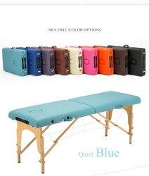 27 Section185CM 70CM Lichtgewicht Draagbare Massage Tafel Couch Bed Plint Therapie Tatoo Salon Reiki Healing Zweedse Massage 15KG