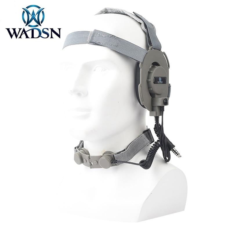 Wadsn ward tático fone de ouvido garganta