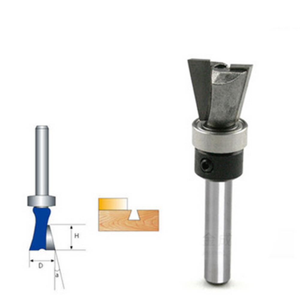 10 Degree 1/4 Carbide Dovetail Joint Router Bit with Bearing Woodworking Cutter Tool For Wood Woodworking Home Accessories 1pc 1 4shk 1 4 5 16 cnc woodworking cutter engraving tool gong cutter dovetail milling cutter