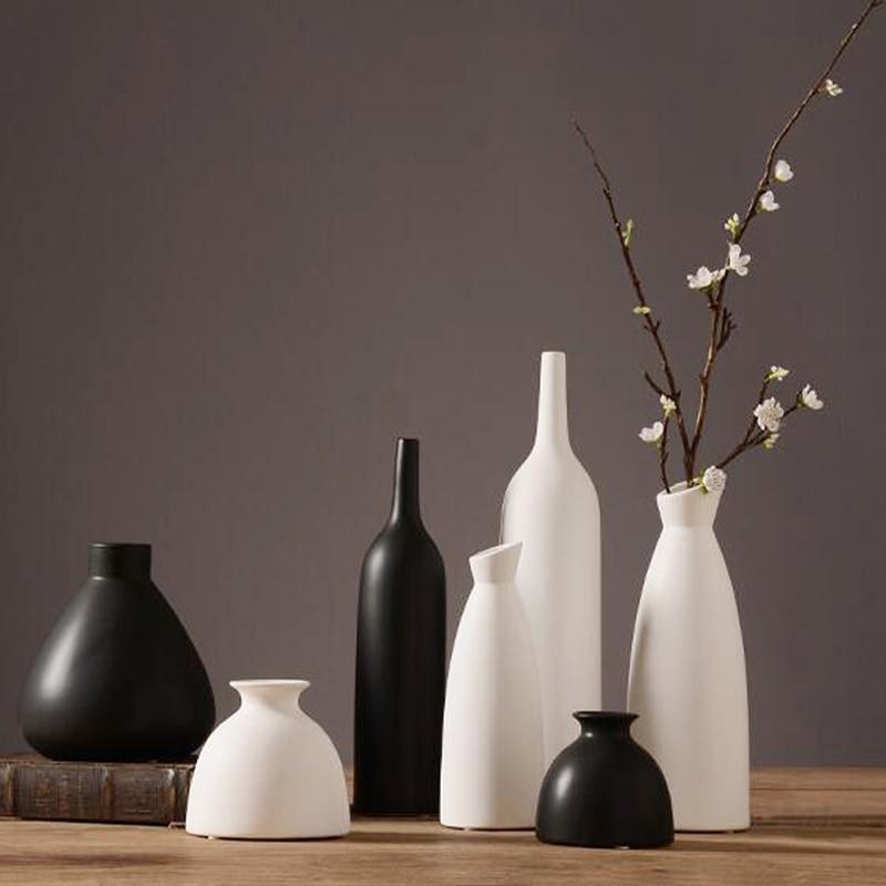 jarrones decorativos moderno escritorio florero de cermica china artes y artesanas de porcelana florero decoracin de la boda