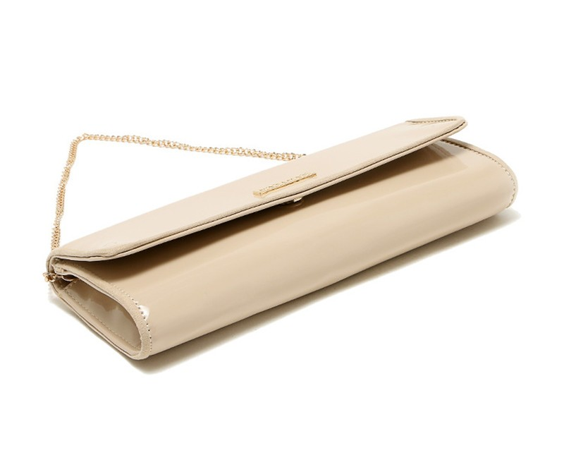 New Elegant Pure 3 Color Dinner Banquet Bag PU Leather High Quality Evening bag with chain HBF37 (17)