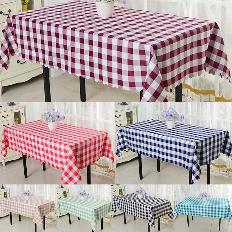 Factory price & factory price !!! Wholesale retail 10pcs grid table cloth restaurant 160*180cm FREE SHIPPING