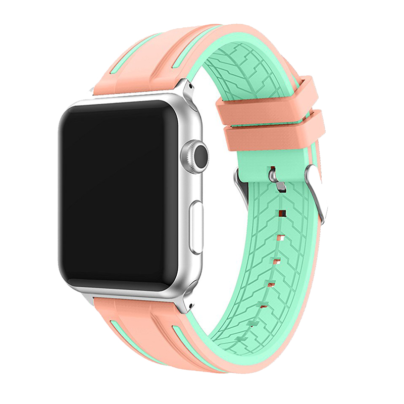 JANSIN Sport band for apple watch series 4 3 2 1 strap for iWatch  Soft Silicone Replacement band adapter 38mm 40mm 42mm 44mm 2