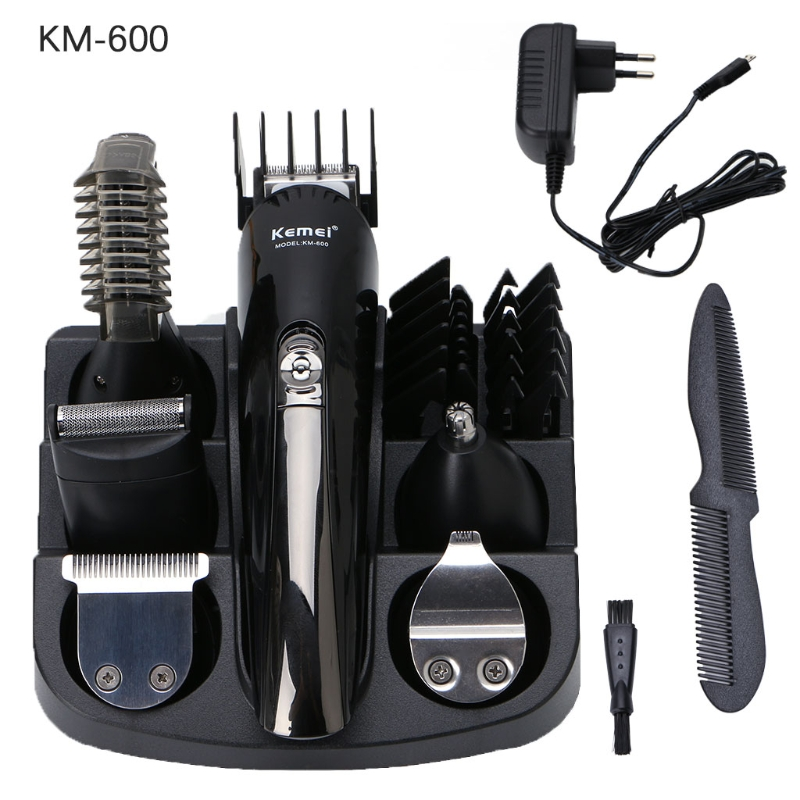 New 1Set KM-600 Pro Hair Clipper Electric Shaver Trimmer Cutters Set Family Personal Care new 680w sheep wool clipper electric sheep goats shearing clipper shears 1 set 13 straight tooth blade comb