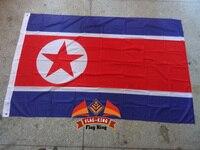 Северная корейский национальный флаг, 120g/m2 трикотажные полиэфирные, 90*150 см, защита от ветра, защита от ультрафиолетовых лучей, цифровая печа...