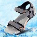 Новые Люди Сандалии 2016 Летняя Обувь для Мужчин Приливные Открытый Повседневная Обувь Плоский Бит Сандалии Мужчин Плюс Размер Hombres Sandalias