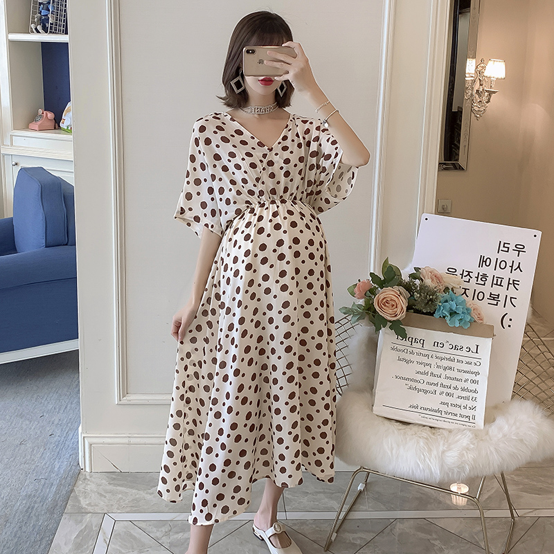 8073# V Neck Slim Waist Maternity Party Maxi Long Dress Summer Fashion Clothes for Pregnant Women Elegant Pregnancy Clothing8073# V Neck Slim Waist Maternity Party Maxi Long Dress Summer Fashion Clothes for Pregnant Women Elegant Pregnancy Clothing