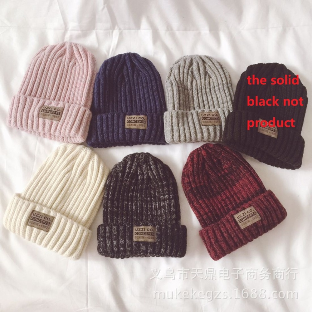 Fashion thick Twist Thread Knitted Hat Children Female Artificial Winter Hats Caps Girl Women thread Knit Beanies 1