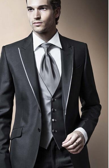 Wedding Custom Suit Lapel Groom Suit Jacket In The Morning The Groom Dress Suit (jacket + Pants + Vest, Tie)