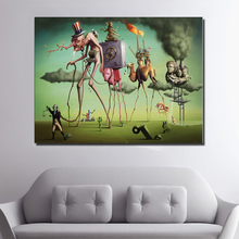 Salvador Dali Wall Art Posters Prints Abstract Canvas Painting Pictures For Living Room Classic Cuadros Decoration