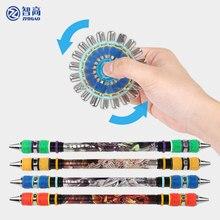 Zhigao caneta girando mod não deslizamento revestido rolamento caneta criativo bola ponto girando caneta para crianças artigos de papelaria material escolar