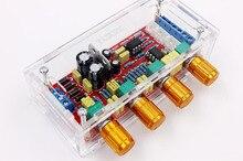 NE5532 OP AMP preamplificador de amplificador HIFI Tono de volumen Placa de Control EQ kits de bricolaje o producto terminado carcasa transparente
