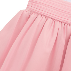 Image 5 - Flower Girls Chiffon Dresses 2020 Sleeveless Tulle Ball Gown Pageant Dresses For Girls First Communion Party Summer Tutu Dresses